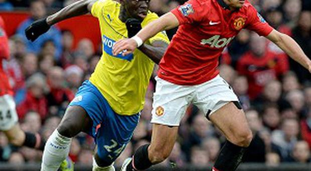 Cheick Tiote, left, was outstanding in the win at Manchester United last week