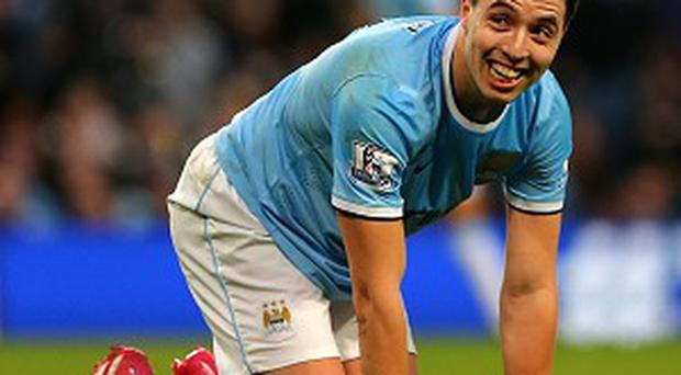Samir Nasri was in the Manchester City side that trounced Arsenal on Saturday