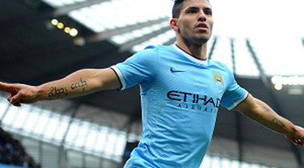 Sergio Aguero could miss the clash with Barcelona