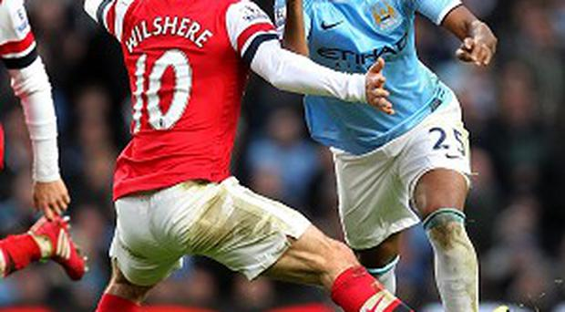 It was a difficult afternoon for Jack Wilshere and his Arsenal team-mates at Manchester City