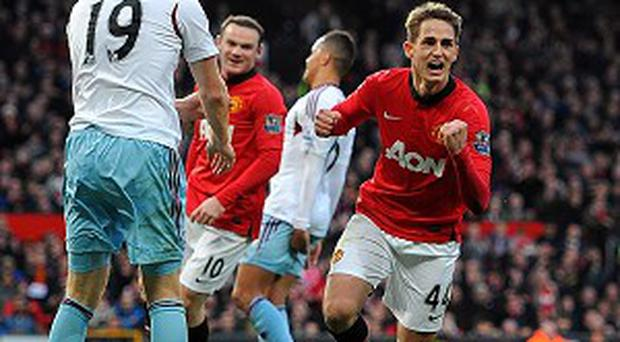 Adnan Januzaj, right, demonstrated his immense talent to score Manchester United's second goal