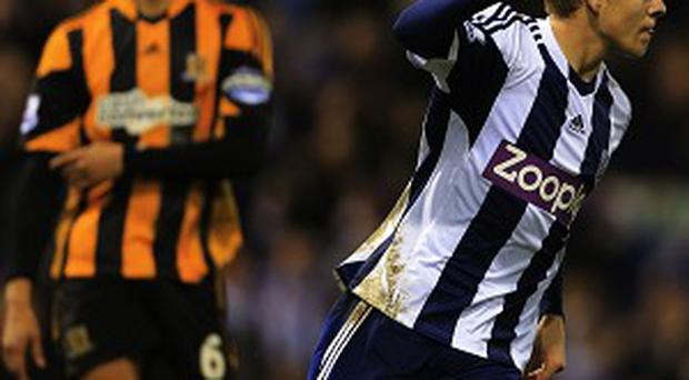 Matej Vydra, right, scored with four minutes left to earn West Brom a draw