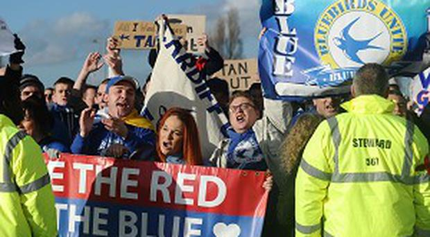 Cardiff fans are unhappy with owner Vincent Tan