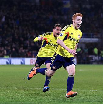 Jack Colback scored in the fourth of five added minutes to earn Sunderland a point at Cardiff