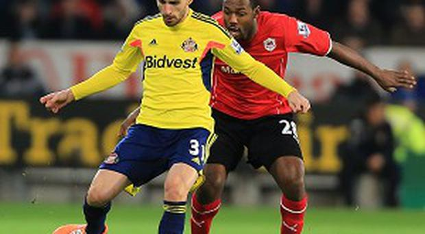 Fabio Borini had a scare during the game with Cardiff