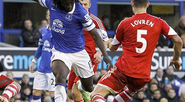Romelu Lukaku's late goal secured the points for Everton