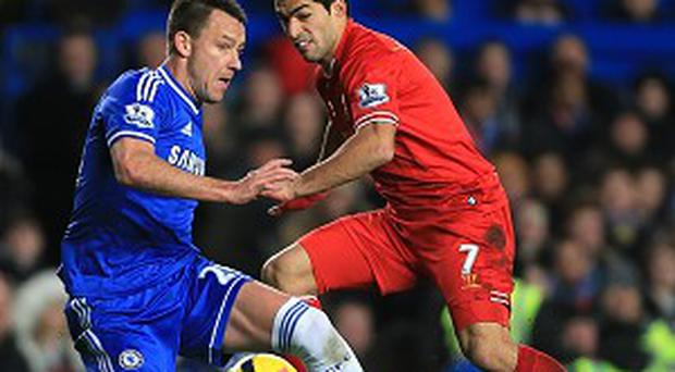 John Terry, left, made his 600th Chelsea appearance on Sunday