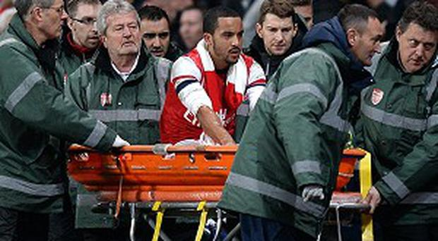 Theo Walcott sustained the injury in Arsenal's FA Cup victory over Tottenham