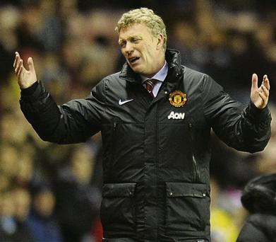 David Moyes shows his frustration on the sideline