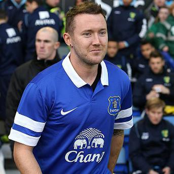 Aiden McGeady was paraded at Goodison Park before Everton's game with Norwich