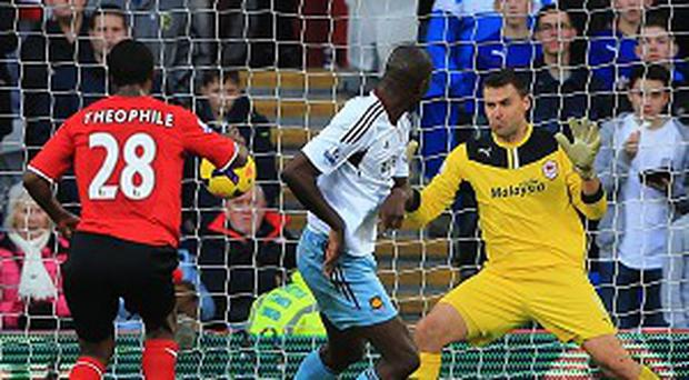 Carlton Cole, centre, opened the scoring in a long-awaited victory for West Ham