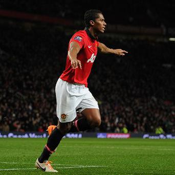 Antonio Valencia celebrates after scoring the first goal