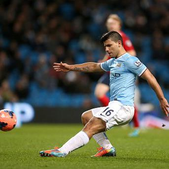 It took Sergio Aguero less than a minute to make an impact on his return from injury