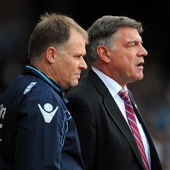 Sam Allardyce, right, and his assistant Neil McDonald have Newcastle connections