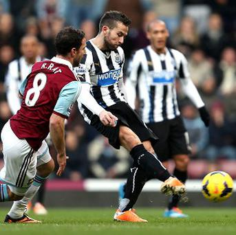 Yohan Cabaye scored a brace in Newcastle's victory over West Ham