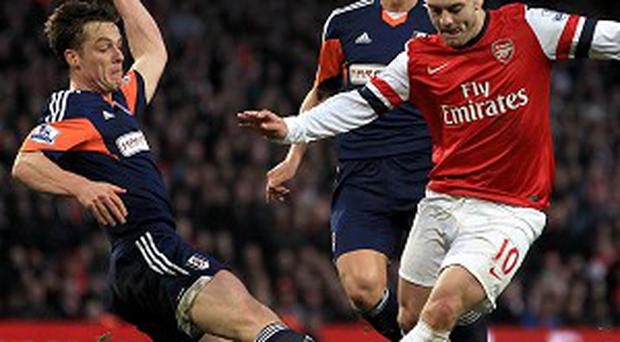 Jack Wilshere, centre, admits Arsenal need to believe in themselves