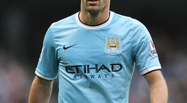 Manchester City defender Pablo Zabaleta, pictured, is thrilled Sergio Aguero has returned to action