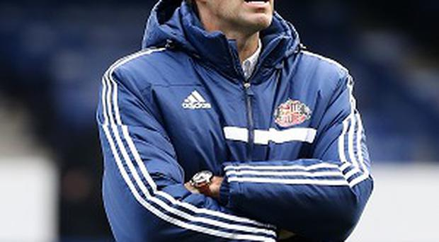 Gus Poyet wants an experienced goalkeeper on the bench at Old Trafford on Wednesday