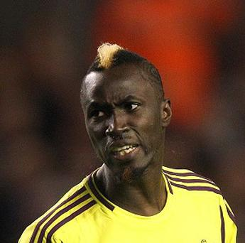 Lacina Traore will be at Goodison Park until the end of the season