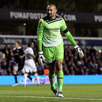 Heurelho Gomes appears to be Tottenham's third-choice goalkeeper