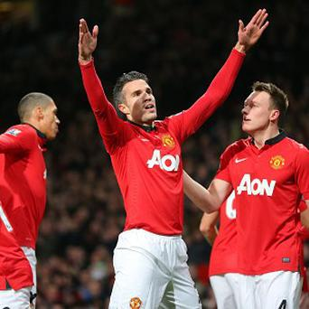Manchester United's Robin van Persie scored early on at Old Trafford