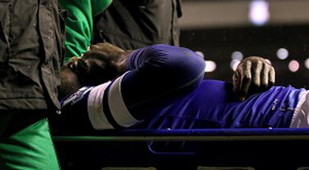 Everton fans feared the worst when Romelu Lukaku left the Anfield pitch on a stretcher
