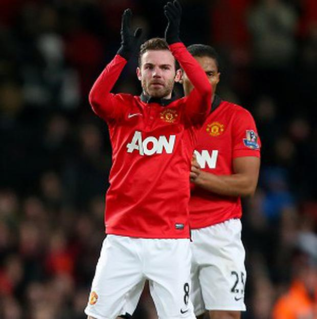 Juan Mata made his Manchester United debut in their victory against Cardiff on Tuesday