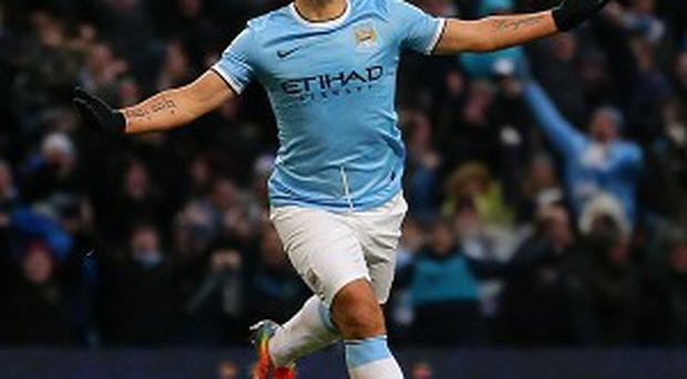 Sergio Aguero has scored 26 goals already this season
