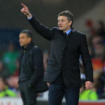 Ole Gunnar Solskjaer, pictured, has described Wilfried Zaha as an 'exciting talent'