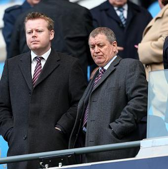 Aston Villa chief executive Paul Faulkner, left, has insisted that the club will not be sold