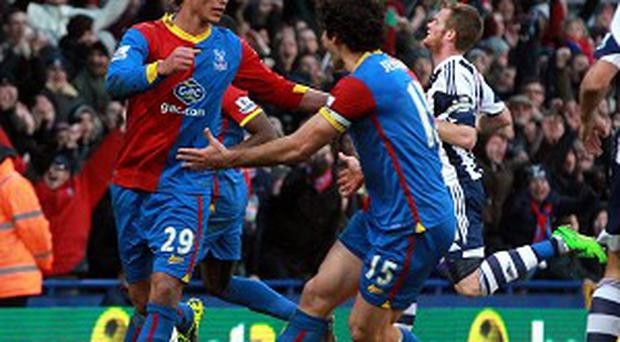 Marouane Chamakh, left, won and then scored the disputed penalty