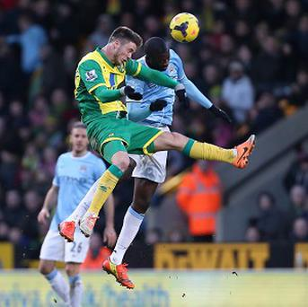 Yaya Toure, right, clashed with Ricky van Wolfswinkel