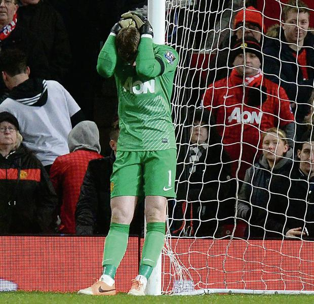 3ae1fa0c6 David De Gea sums up the mood at Old Trafford after Fulham s late equaliser