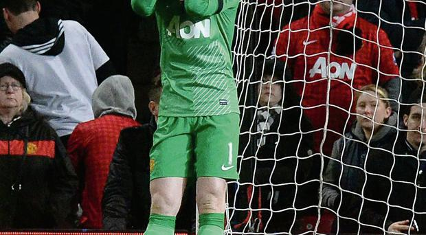 David De Gea sums up the mood at Old Trafford after Fulham's late equaliser