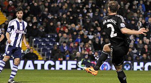 Branislav Ivanovic fires home the winner for Chelsea