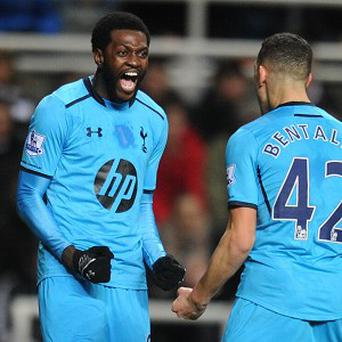 Emmanuel Adebayor continued his fine form at St James' Park
