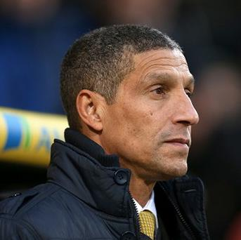 Chris Hughton is under pressure at Carrow Road