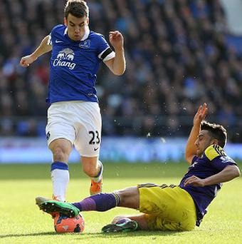 Seamus Coleman, left, helped Everton book their place in the FA Cup last eight