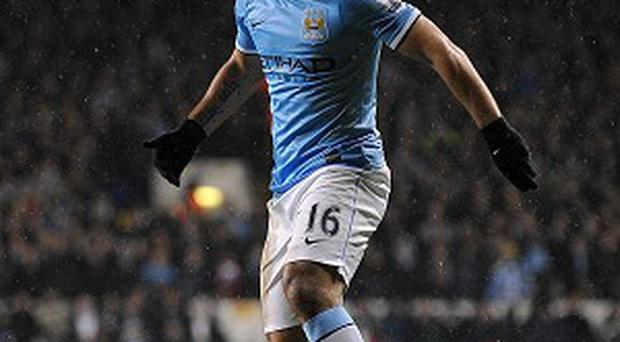 Manchester City striker Sergio Aguero remains sidelined