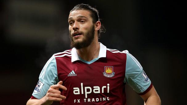 Andy Carroll missed West Ham's last three games through suspension