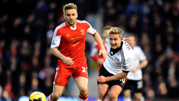 Luke Shaw, left, received his first senior England call-up this week