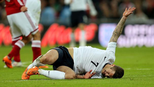 England's Jack Wilshere is set to be out for six weeks