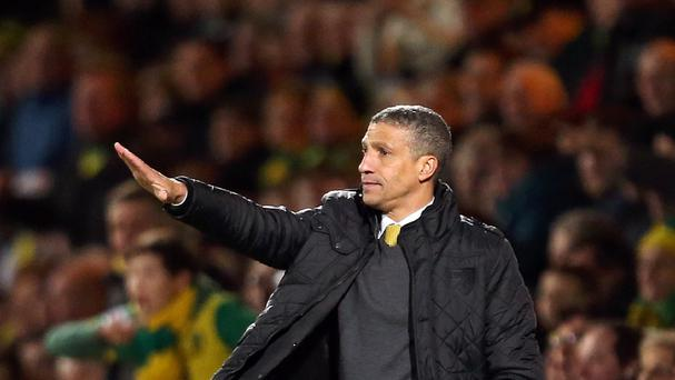 Norwich manager Chris Hughton maintains his side must keep calm over the final 10 Barclays Premier League matches of the season.