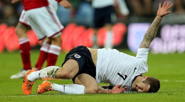 Jack Wilshere suffered the injury while on international duty