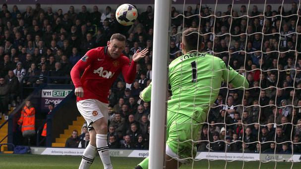 Wayne Rooney scored Manchester United's second