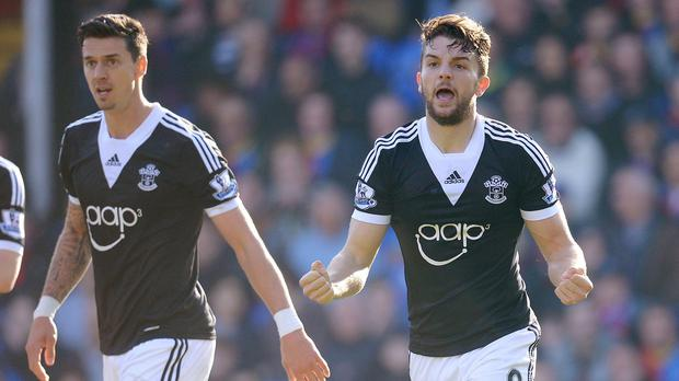 Jay Rodriguez, right, scored the only goal of the game as Saints returned to winning ways