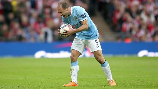 Pablo Zabaleta feels Manchester City did themselves proud against Barcelona