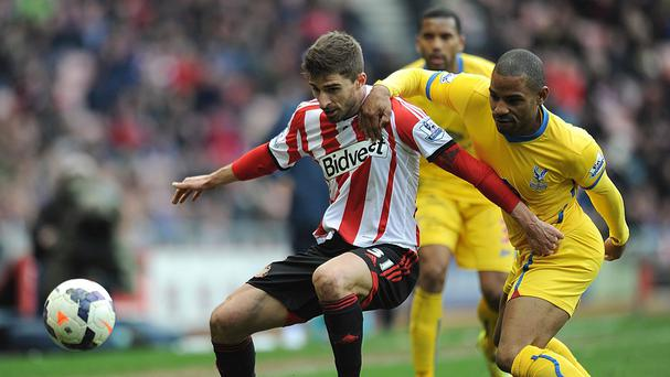 Fabio Borini, left, could not fire Sunerland to victory against Crystal Palace