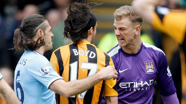 Joe Hart, right, will not face any disciplinary action