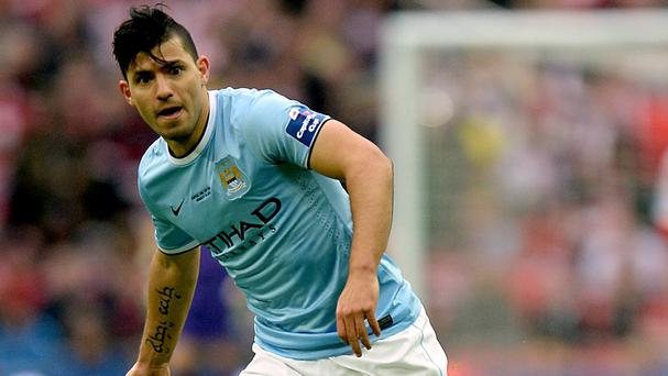 Sergio Aguero will miss the Manchester derby